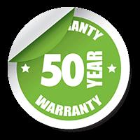 Get A 50 Year Warranty!